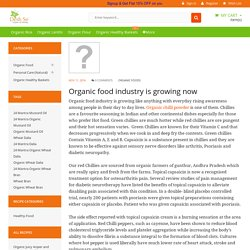 Organic food industry is growing now