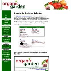 Organic Garden Lunar Calendar