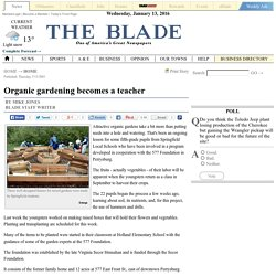 Organic gardening becomes a teacher