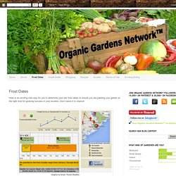 Organic Gardens Network™: Frost Dates
