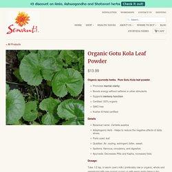 Organic Gotu Kola Leaf Powder
