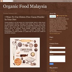 Organic Food Malaysia: 7 Ways To Use Gluten-Free Cacao Powder In Your Diet