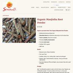 Organic Manjistha Root Powder