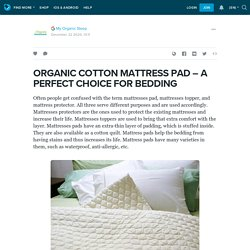 ORGANIC COTTON MATTRESS PAD – A PERFECT CHOICE FOR BEDDING : ext_5618162 — LiveJournal
