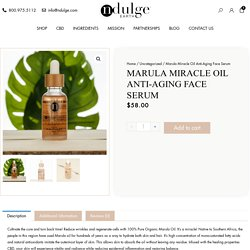 Pure Organic CBD Marula Miracle Oil For Wrinkle