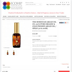Organic Moroccan Argan Oil for Hair – Eco Hip
