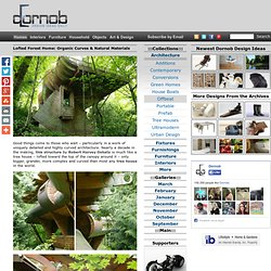 Lofted Forest Home: Organic Curves & Natural Materials | Designs &Ideas on Dornob - StumbleUpon