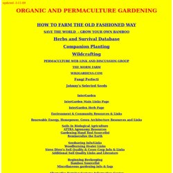 ORGANIC AND PERMACULTURE GARDENING