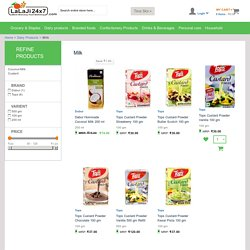 Online Milk and Custard Shopping from Supermarkets