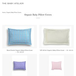 Organic Cotton Baby Pillow Cover Online Shopping in India - The BabyAtelier – The Baby Atelier