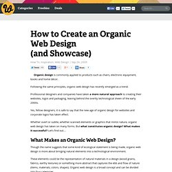 How to Create an Organic Web Design (and Showcase)