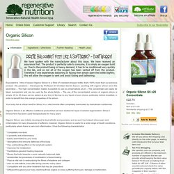 Organic Silicon - Natural Supplements for Health