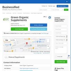 Green Organic Supplements - Health & Medical