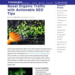 Boost Organic Traffic with Actionable SEO Tips ~ Engage Online