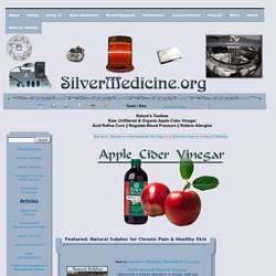 Organic Raw Apple Cider Vinegar - Natural Cures