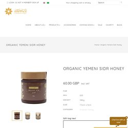 Buy Pure and Organic Yemeni Sidr Honey Online