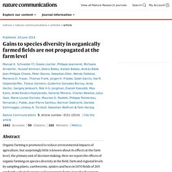 Gains to species diversity in organically farmed fields are not propagated at the farm level