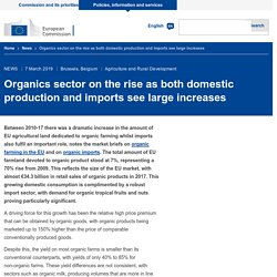 Organics sector on the rise as both domestic production and imports see large increases