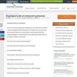 Organigrama De Un Restaurant Y Procesos - Documentos - Josemaria30