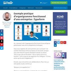 Exemple pratique d'organigramme fonctionnel d'une entreprise : Typeform