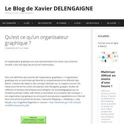Qu'est ce qu'un organisateur graphique ? – Le Blog de Xavier DELENGAIGNE