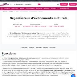 Organisateur d'Événements Culturels : Fiche Métier
