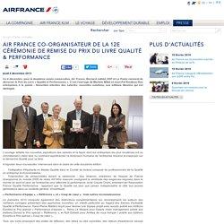 Air France co-organisateur de la 12e Cérémonie de remise du Prix du Livre Qualité & Performance
