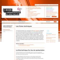 E-book de l'organisateur de spectacles - Les fiches techniques - l'Agence Culturelle d'Alsace