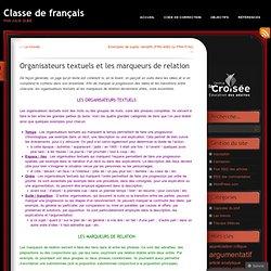 Organisateurs textuels et les marqueurs de relation « Classe de français