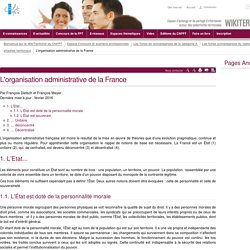 L'organisation administrative de la France (vitrine.L'organisation administrative de la France) - CNFPT