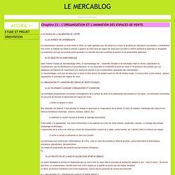 Chapitre 23 : L'ORGANISATION ET L'ANIMATION DES ESPACES DE VENTE - LE MERCABLOG