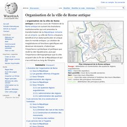 Organisation de la ville de Rome antique