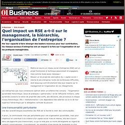 Quel impact un RSE a-t-il sur le management, la hiérarchie, l'organisation de l'entreprise ? par @ClaudeSuper #e20