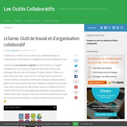 ccGenie. Outil de travail et d'organisation collaboratif