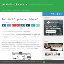 Trello. Outil d'organisation collaboratif. | le foyer de Ticeman | Scoop.it