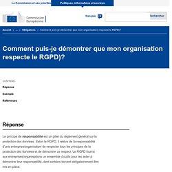 Comment puis-je démontrer que mon organisation respecte le RGPD)?