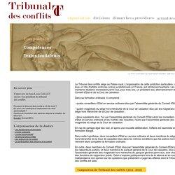 Le Tribunal des conflits - Organisation - Composition