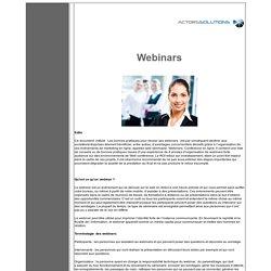 Organisation de Web Séminaire - Webinars - Séminaire Web - Conférence en ligne