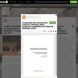 L'organisation des connaissances et web 2.0 : historique, jalons, perspectives. Introduction aux Cahiers du numérique, 3/2010