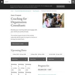 Coaching for Organisation Consultants - Ashridge Executive Education