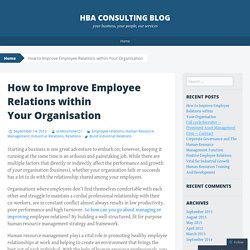 How to Improve Employee Relations within Your Organisation
