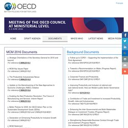 Documents - Organisation for Economic Co-operation and Development