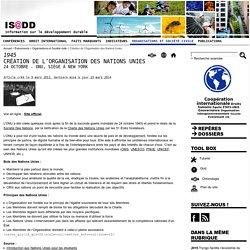 Création de l'Organisation des Nations Unies - IS@DD Information sur le développement durable