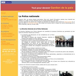 L'organisation de la Police nationale