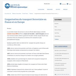 L'organisation du transport ferroviaire en France et en Europe -