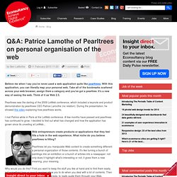 Q&A: Patrice Lamothe of Pearltrees on personal organisation of t