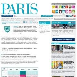 Projets et propositions à Paris