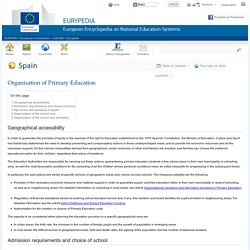 Spain:Organisation of Primary Education