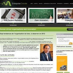 Sept tendances de l'organisation du futur, à observer en 2012