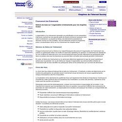 Notions de base sur l'organisation d'événements pour les chapitres locaux « Financement des Événements